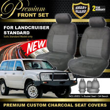 Premium Charcoal SEAT COVERS for TOYOTA LANDCRUISER 100 SERIES STANDARD 1998-07