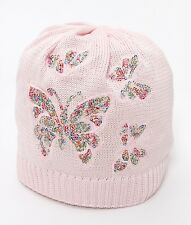 CATYA Sommermütze mit Pailletten-Schmetterlingen in zartrosa 100% Baumwolle  NEU