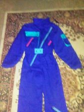 Nills Belted One Piece Blue Ski Snow Suit. Ladies Size 12. Excellent Pre-owned