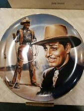 SUSIE MORTON COLLECTORS PLATE CLARK GABLE 1984 LIMITED EDITION FREE SHIPPING