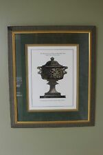 Large Framed Piranesi Harvest Urn Blue, A Hand Colored Etching print open edit