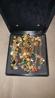 JOAN RIVERS 73 pc RUSSIAN FABERGE EGGS & CHARMS QUEEN OF ROMANIA NECKLACE