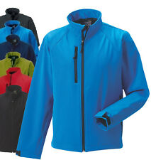 Jerzees Russell Soft Shell Fleece Lined Mens Jacket Coat BLUE RED GREY GREEN