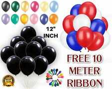 100 PLAIN BALONS BALLONS HELIUM & AIR BALLOONS Quality Party Birthday & Wedding