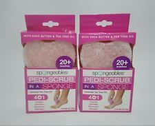 2× Pedi Scrub Aromatherapy Tea Tree Oil Lavender Foot Pedi-Scrub Exfoliating