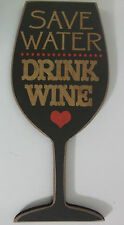 Wall Wooden Quotation Wine Glass Plaque Save Water Drink Wine