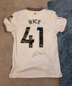 Declan Rice Signed West Ham Shirt