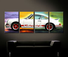 Pop Art Porsche 911 CARRERA RS Cuadro Lienzo Pared Vintage Decoración Clásico