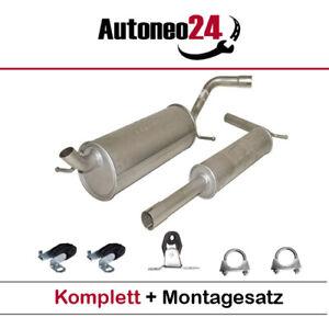 Auspuffanlage ab Kat VW Polo (9N_), Skoda Fabia I (6Y2,6Y3) 1.4 16V, 1999-