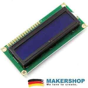 LCD 1602 Blau Display HD44780 I2C Anzeige Bildschirm 16x2 Arduino Raspberry Pi