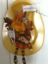 New Bedpan Fall Home Decor Wreath Medical Humor Scarecrow Hospitial Bed Pan Fun