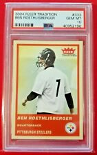 Ben Roethlisberger 2004 Fleer Tradition Red Rookie RC PSA 10 GMT Steelers!