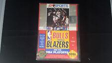 BULLS VS TRAIL BLAZERS game Sega genesis 32x 1993 system nba basketball playoffs