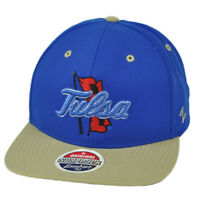 NCAA Zephyr Tulsa Golden Hurricane Flat Bill Hat Cap Snapback Blue Constructed