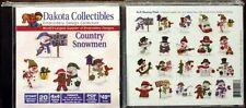 "1 New Dakota Collectibles ""Country Snowmen"" 970447 *Free Cd & T-Shirt*"