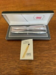CROSS Sterling Silver PEN and PENCIL SET in Original Box with Paperwork