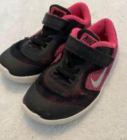 Nike Free Toddler Girls Sneaker Shoes Tennis Size 10C Black Pink