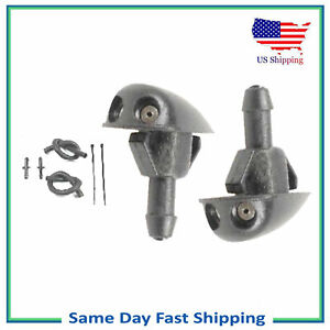 Set Window Windshield Washer Nozzle Sprayer JET For Honda Accord Civic Prelude