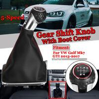 Pommeau Levier 5 vitesses Soufflet Avec Cadre Botte Pour VW Golf Mk7 GTI 13-17