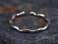 Silberring Schlicht Schmal Glatt Gedreht Vintage Ring Silber 925 Verstellbar