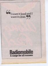 RADIOMOBILE press clipping 1978 approx 20x15cm (21/10/78)