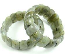 Natural Labradorite Rectangle beads Gemstone Stretch Bracelet Jewellery Gift