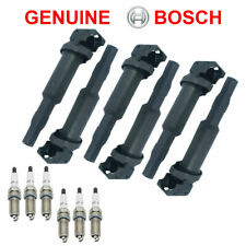 6PCS Spark Glow Plug + 6PCS Geniune Ignition Coil for BMW 128 328i 530i Z4 X3 US