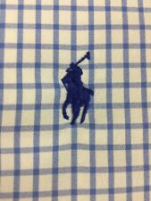 Polo Ralph Lauren L/S  Button Checkered Shirt Pony XL PERFORMANCE NYLON ELASTANE