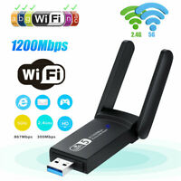LAN Ethernet Dongle Dual Band Antenna Wifi Adapter Networking Network Card