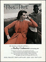 1951 Woman wearing Hadley Cashmeres Peck and Peck vintage photo print ad ads63