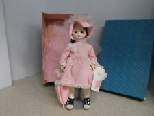 Madame Alexander Vintage Doll Rebecca With Pink Dress & Bonnet Original Box 1585