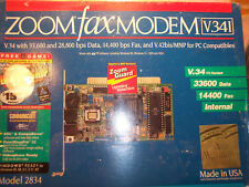 ZOOM FAX MODEM V.34I MODEL 2834 33,600 & 28,000 bps DATA 14440 bps FAX NIB