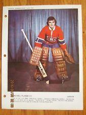 Dimanche Derniere Heure January 7 197 Michel Plasse - Montreal Canadiens janvier