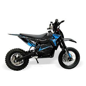 Electric 48V 1200W Kids Dirt Bike – Blue
