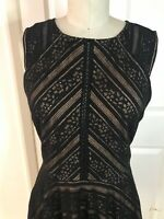 City Triangles Dress Black Chevron Lace Overlay Party Sleeveless NEW 7 Juniors
