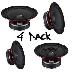 "4) DS18 PRO-X8M 8"" Midrange Speaker 1,100W Max 8 Ohm 8 inch Midbass (Set of 4)"