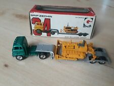 Eidai Grip Zechin Isuzu Bulldozer Carrier Truck #34 1:100 Japan Mint mit OVP