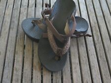 95ed32add7fb6c WOMENS CHACO HIPTHONG SANDALS 5 BROWN WITH BROWN TAUPE ADJUSTABLE STRAPS