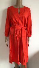 SIENNA - tolles Kleid in orange rot NEU- Gr 36 S 2982ok