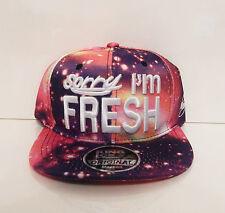 Peinture splash galaxy snapback hat cap peak désolé im frais logo violet rose