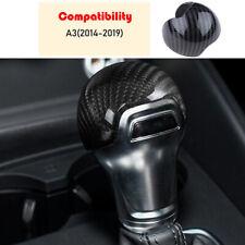 1Pcs Carbon Fiber Gear Shift Knob Head Cover Trim For AUDI A3 S3 8V 2013-2018 UK