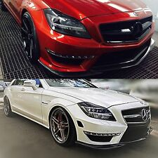 Mercedes Benz W218 CLS 63 AMG Euro Type Carbon Fiber Front Spoiler Lip