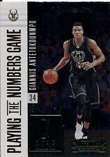 2017 - 18 Contenders Giannis Antetokounmpo Milwaukee Bucks Numbers Game #23