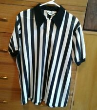 Men's Medalist Sand Knit Official/Referee Shirt Size Xl Black and White Stripe