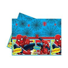 "72"" x 47"" Ultimate Spiderman Comic Birthday Party Plastic Table Cover"