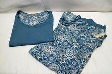 INK + IVY Womens Pyjamas Blue. Patterned Bottoms.