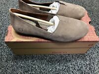 Born Sebra Shoes - Suede Leather Flats - Taupe Size - 7, 7.5, 8, 8.5, 9, 9.5, 10