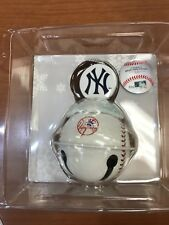 New York Yankees Metal Bell Christmas Ornament
