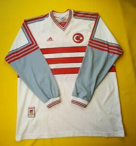Turkey Match Worn jersey XL 1998 2000 away long s. shirt Adidas ig93
