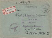 Germany WW2 1941 Feldpost 457  registered cover